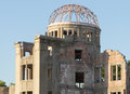 Hiroshima atomic dome of japan in summer august Stock Photos