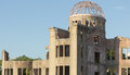 Hiroshima atomic dome of japan in summer august Royalty Free Stock Photo