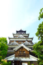 Hiroshima castle in hiroshima japan dating from Stock Image