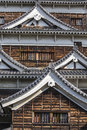 Hiroshima castle japan with detail Royalty Free Stock Images