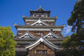 Hiroshima castle japan with detail Stock Photography