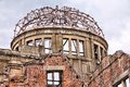 Hiroshima city in chugoku region of japan honshu island famous atomic bomb dome Royalty Free Stock Photography