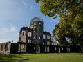 Hiroshima peace memorial dome in the atomic bomb epicenter Royalty Free Stock Photos