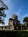 Hiroshima peace memorial genbaku dome in the atomic bomb epicenter Stock Images