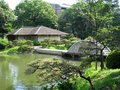 Hiroshima prefectural art museum garden Stock Photo