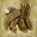 His and Her Boots Royalty Free Stock Photo