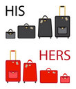 His and hers luggage Stock Images