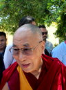 His holiness the xiv dalai lama tenzin gyatso photographed in pomaia pisa italy during conference tsong khapa institute Stock Image