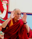 His holiness the xiv dalai lama tenzin gyatso photographed in pomaia pisa italy during conference tsong khapa institute Stock Photos