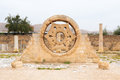 Hisham`s Palace Stone Decoration in the West Bank city of Jerich Royalty Free Stock Photo