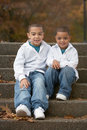 Hispanic boy brothers Royalty Free Stock Photo