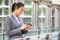 Hispanic Businesswoman Outside Office Royalty Free Stock Photo