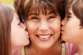 Hispanic grandmother and grandchildren Royalty Free Stock Photography