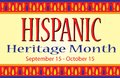 Colorful Hispanic Heritage Month Banner Postcard
