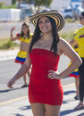 Hispanic international day parade las vegas oct a participant at the th annual in las vegas nevada on october celebrating Royalty Free Stock Photos