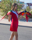 Hispanic international day parade las vegas oct a participant at the th annual in las vegas nevada on october celebrating Royalty Free Stock Photo