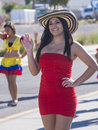 Hispanic international day parade las vegas oct a participant at the th annual in las vegas nevada on october celebrating Stock Photography