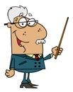 Hispanic Senior Professor Man Royalty Free Stock Photos