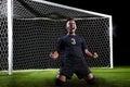 Hispanic Soccer Player celebrating a goal Royalty Free Stock Photo
