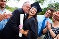 Hispanic Student And Family Celebrating Graduation Royalty Free Stock Photo