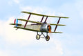 Historic aircraft sopworth triplane for the royal navy in Royalty Free Stock Photos