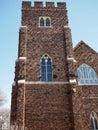 Anglican Church With Clinker Bricks In Edmonton Alberta Royalty Free Stock Photo