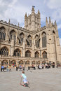 Historic Bath Abbey in Somerset England Royalty Free Stock Photos