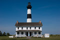 Historic Bodie Island Lighthouse at Cape Hatteras National Seashore on the Outer Banks of North Carolina.