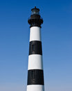 Historic Bodie Island Lighthouse at Cape Hatteras National Seashore on the Outer Banks of North Carolina. Royalty Free Stock Photo