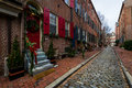Historic Brick Buildings in Society Hill in Philadelphia, Pennsy Royalty Free Stock Photo
