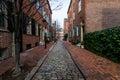 Historic Brick Buildings in Society Hill in Philadelphia, Pennsy