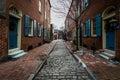 Historic Brick Buildings in Society Hill in Philadelphia, Pennsylvania Royalty Free Stock Photo