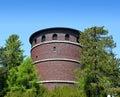 Historic brick water tower Royalty Free Stock Photo