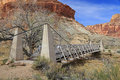 Historic bridge in the utah desert usa Stock Photography