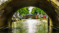 Historic Bridges over a Canal in Amstrdam Royalty Free Stock Photo