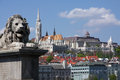 Historic budapest view on the buda hill with the fisherman bastion in Royalty Free Stock Photos
