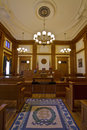 Historic Building Courtroom 2 Stock Image
