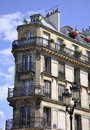 Historic building in montmartre in paris area france a summer day Stock Photos