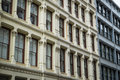 Historic buildings in new york city s soho district cast iron Royalty Free Stock Photos