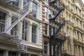Historic buildings in new york city s soho district cast iron Stock Photo
