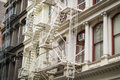 Historic buildings in new york city s soho district cast iron Stock Image