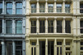 Historic buildings in new york city s soho district cast iron Stock Photography