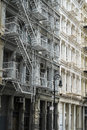 Historic buildings in new york city s soho district cast iron Royalty Free Stock Image