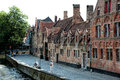 Historic buildings old in the centre of brugge belgium Royalty Free Stock Photography