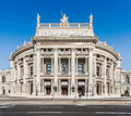 Historic Burgtheater (Imperial Court Theatre) in Vienna, Austria Royalty Free Stock Photo