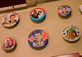 Historic buttons for ronald reagan on display at the museum for american history at the smithsonian in washington dc Stock Photo