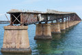 The historic camelback bridge this in florida keys also known as bahia honda rail was constructed as a railroad truss for Royalty Free Stock Photo