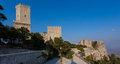 Historic castle of Venice and old fort ruins in Erice, Sicily Royalty Free Stock Photos