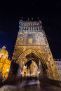 The historic center of prague ancient architecture and cultural heritage prague at night charles bridge to river old Royalty Free Stock Images