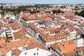 Historic centre of Ceske Budejovice, Budweis, Budvar, South Bohe Royalty Free Stock Photo